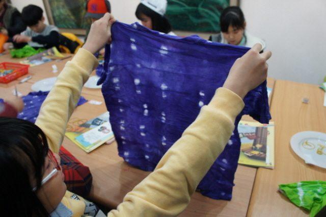 2015.11.27. 재미있고 신나는 염색놀이, 내가 만든 알록달록 티셔츠 11월 27일 온수 초등학교 4학년 7반