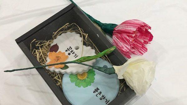 2019.07.04 [중학교 자유학년제] 한지꽃+석고방향제 만들기