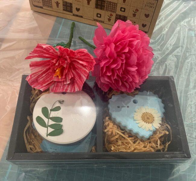 2019.11.19 [중학교자유학년제] 한지꽃과 석고방향제 만들기 공예체험