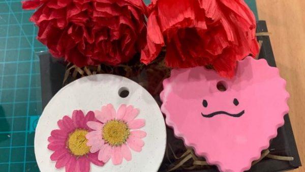 2019.12.10 [중학교자유학년제] 한지꽃과 석고방향제 만들기